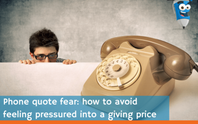 Phone quote fear: how to avoid feeling pressured into giving a price