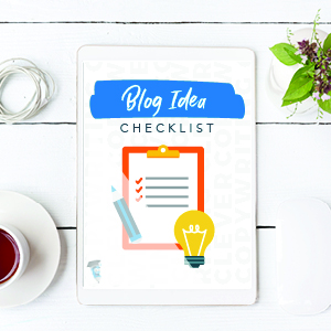 Blog idea checklist cover