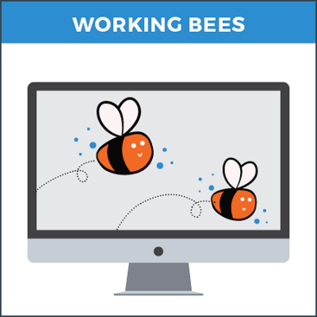 Copywriter working bee product image